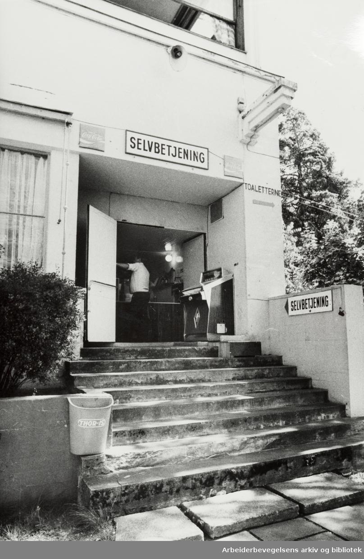 Ekebergrestauranten. August 1976