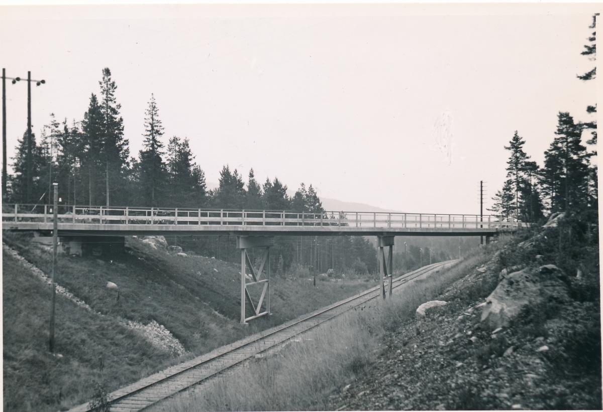 Vägbro vid Nötberget på sträckan mellan Vansbro och Limedsforsen.