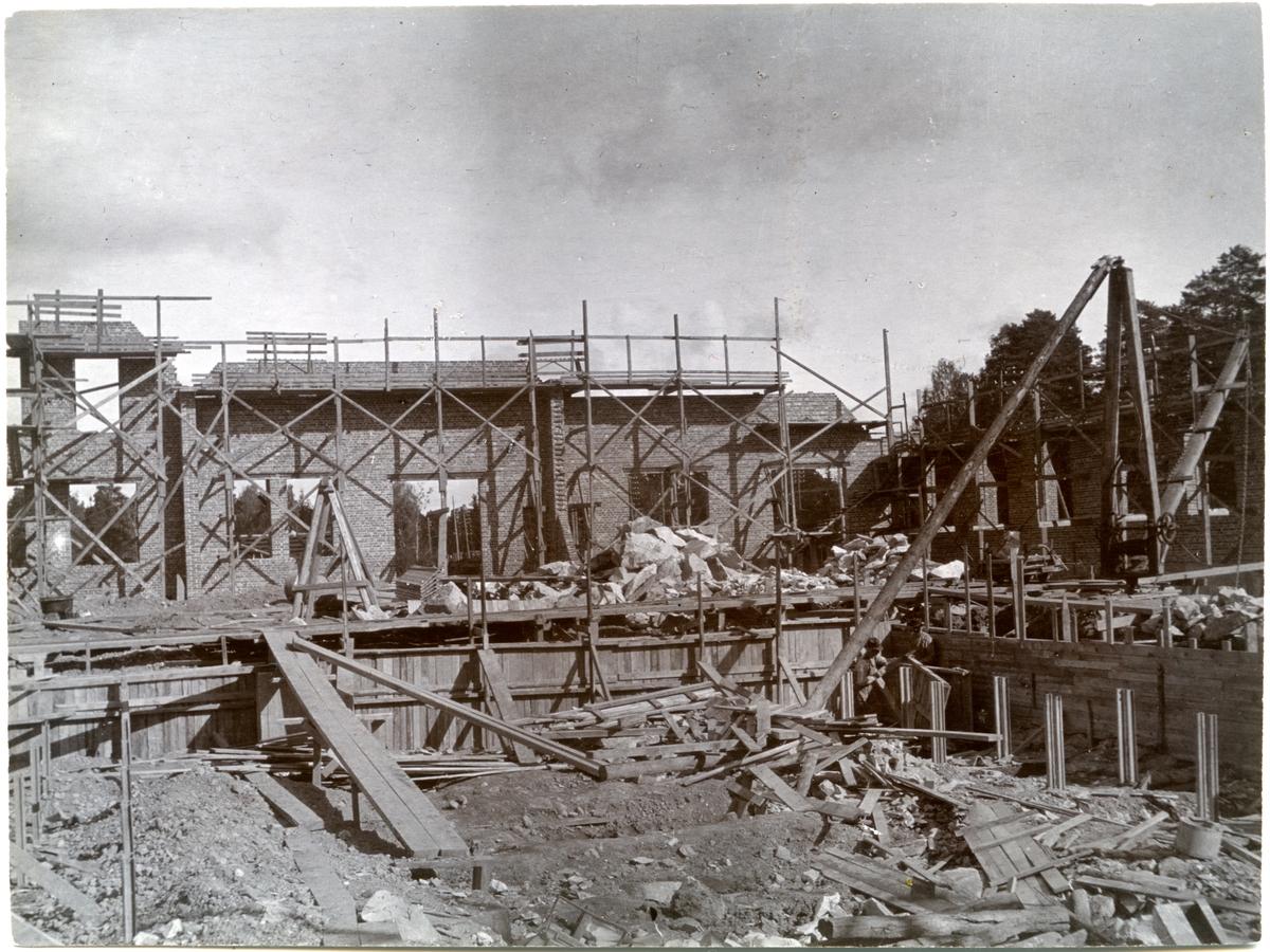 Mörby verkstad under Byggnad