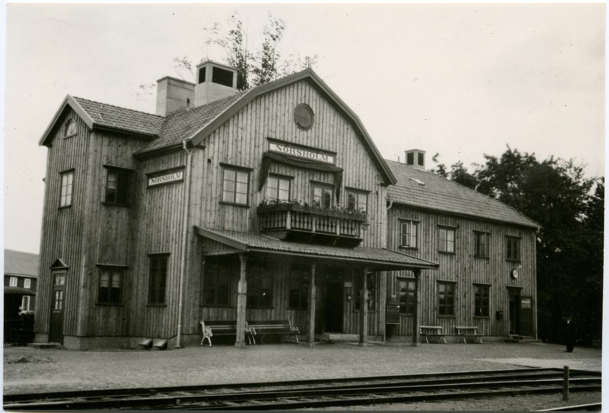 Nya stationshuset i Norsholm.