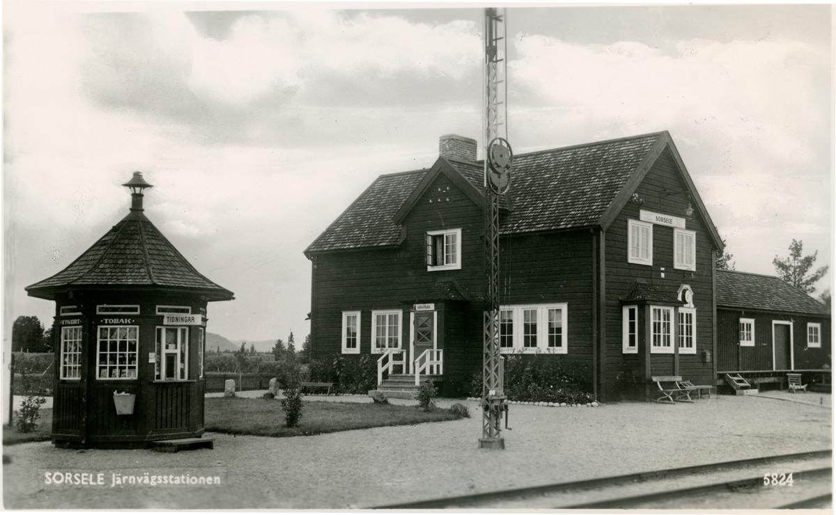 Sorsele Järnvägsstation. Statens Järnvägar, SJ.