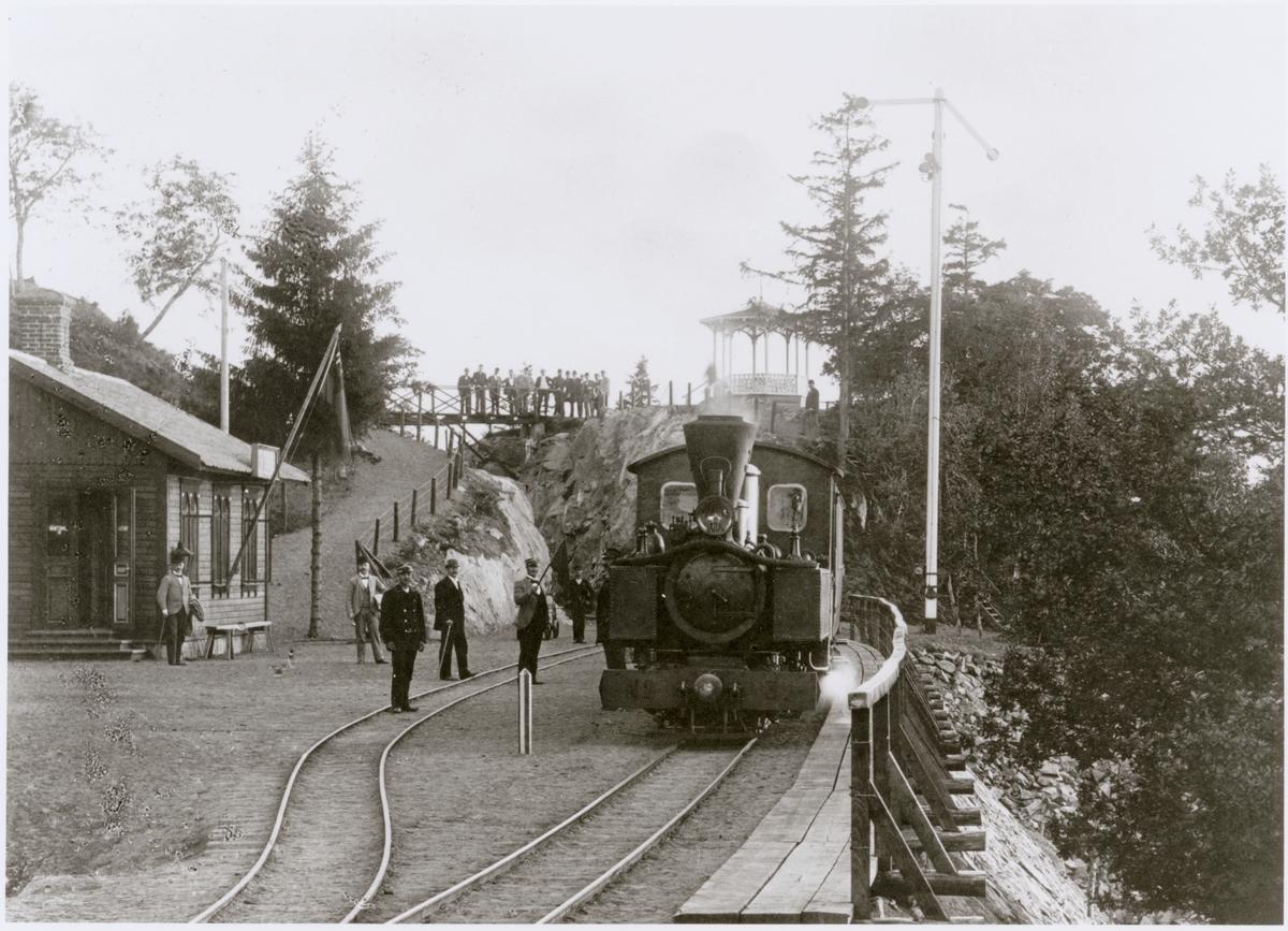 Vistakulle station. Jönköping - Gripenbergs järnväg (JGJ). Jönköping - Gripenbergs järnväg, JGJ Lok 3.