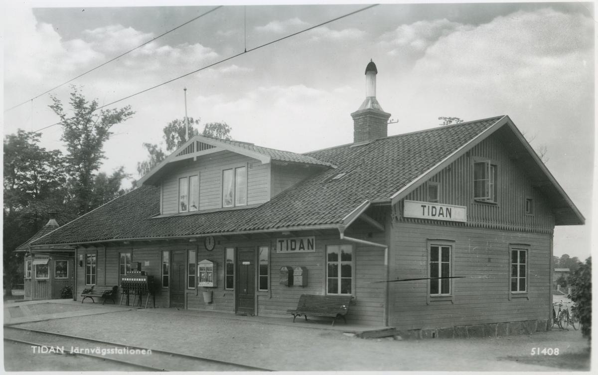 Tidan station. Statens Järnvägar, SJ.