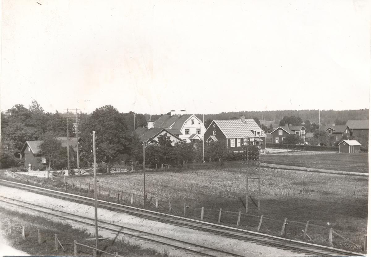 Del av stationssamhället och banan i Jularbo.