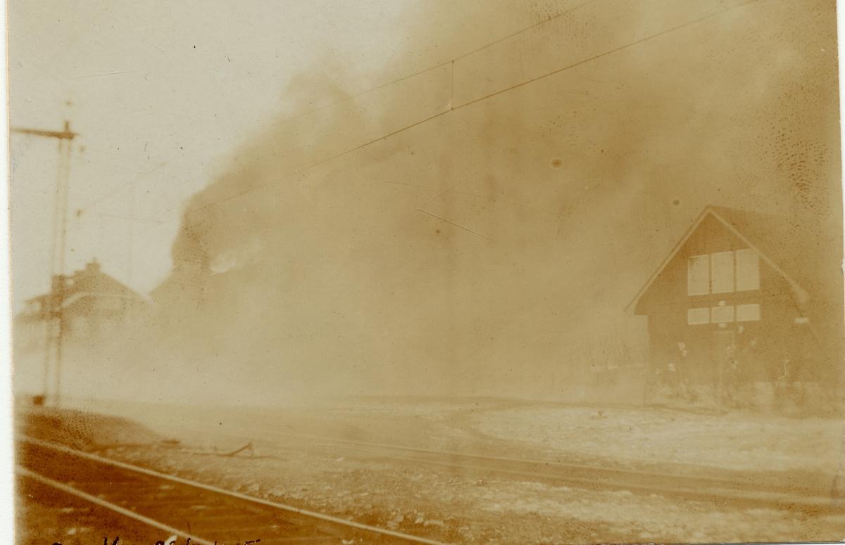 Branden i stationshuset.