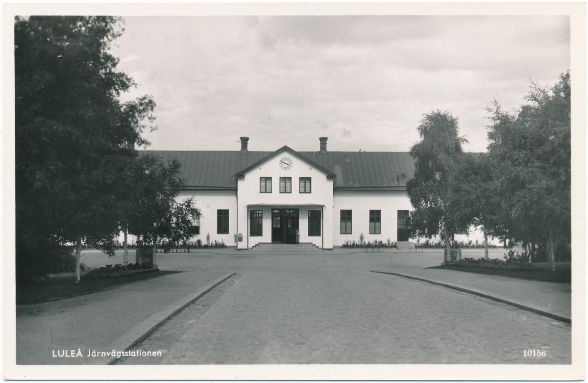 Stationshuset i Luleå sett från gatusidan.