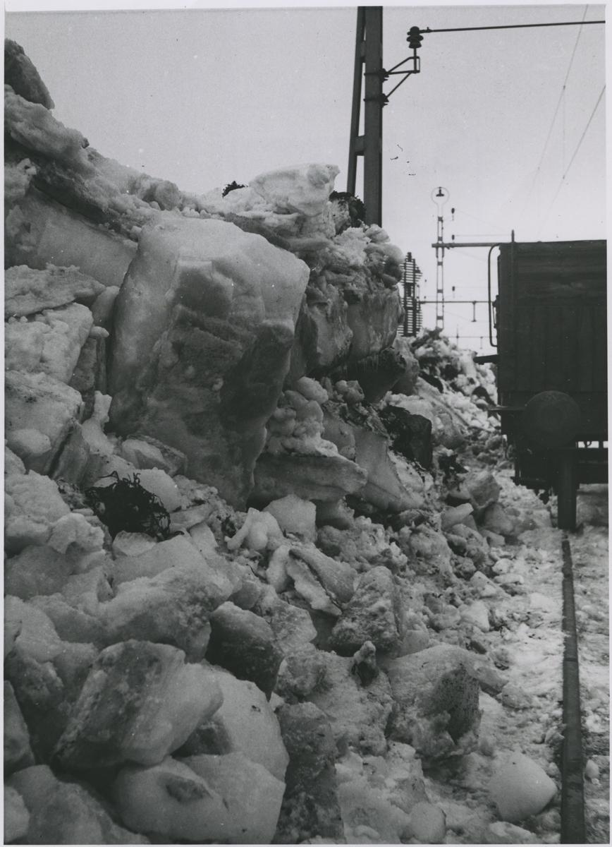 Trelleborg isskruvning vintern 1947.