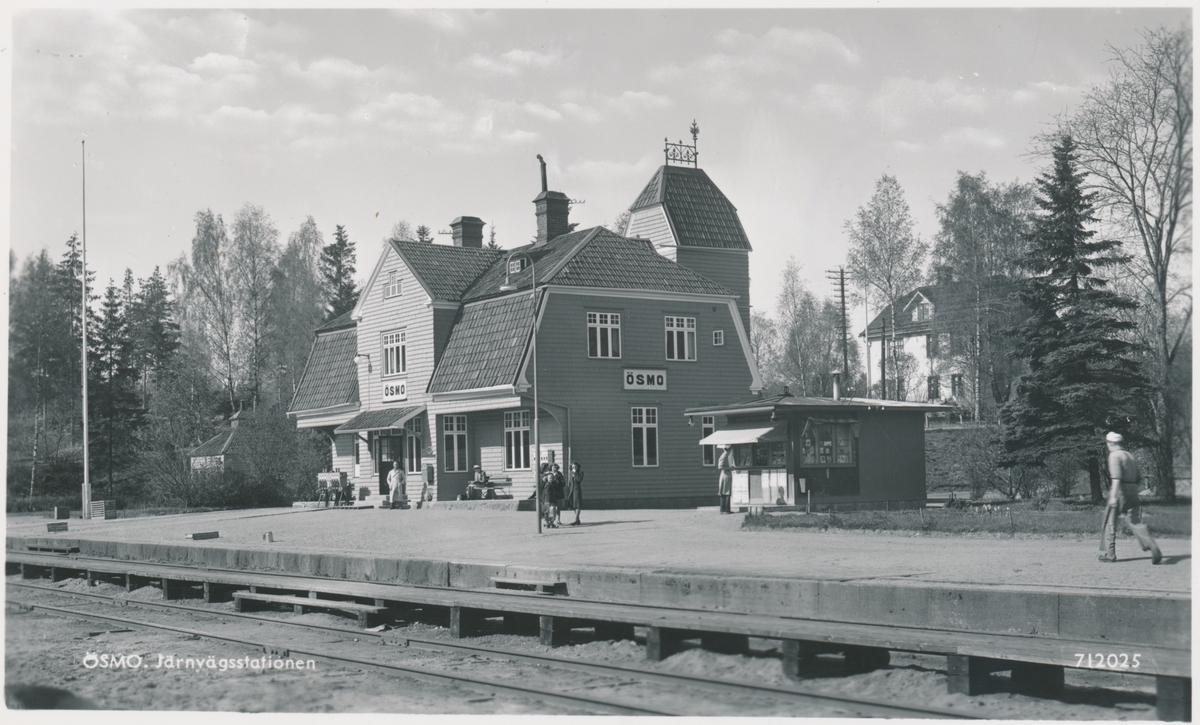 Ösmo station, Stockholm - Nynäs Järnväg, SNJ.