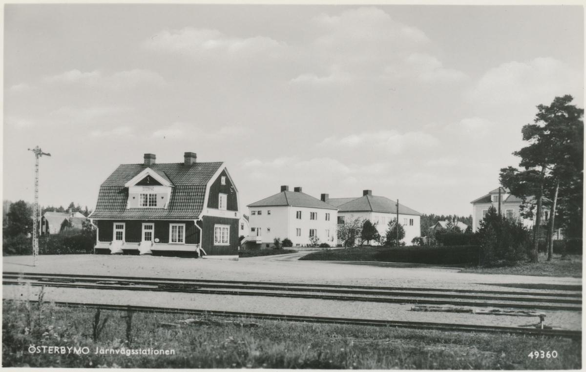 Österbymo stationshus. Eksjö - Österbymo Järnväg,  EÖJ.