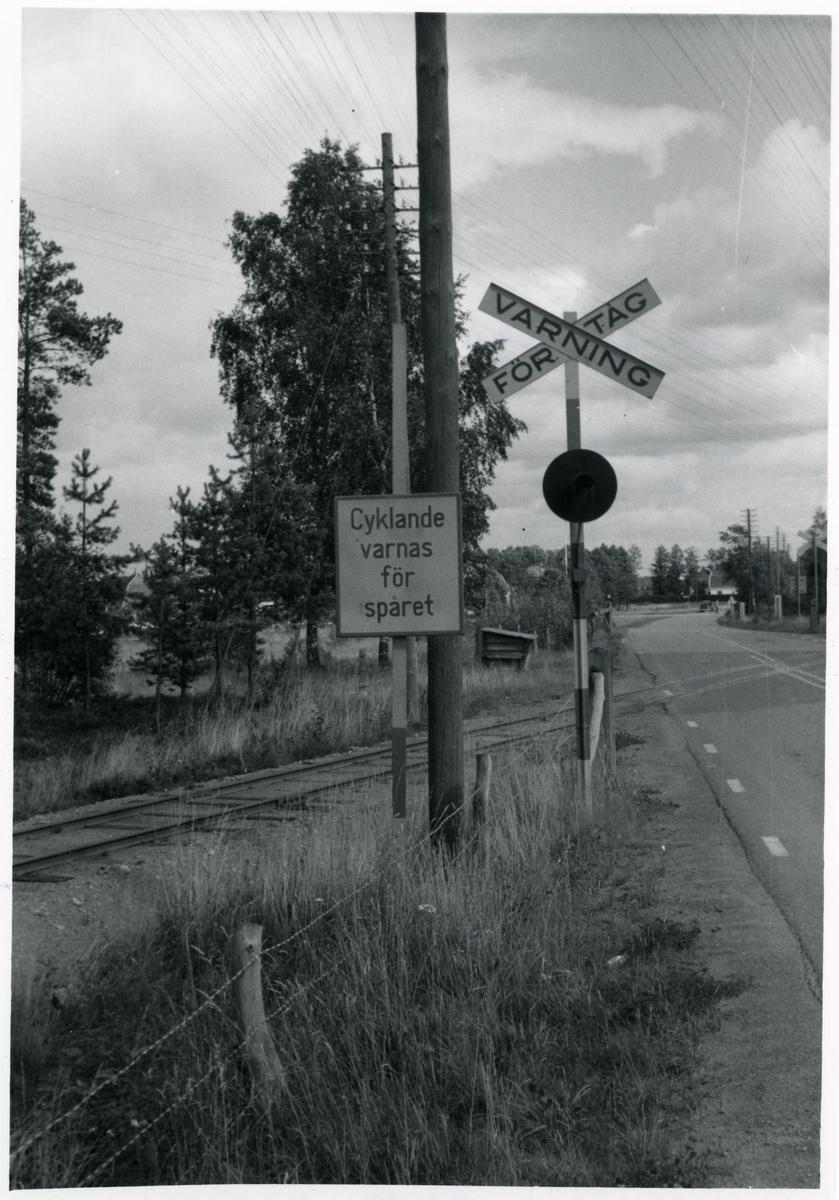 Järnvägskorsning.