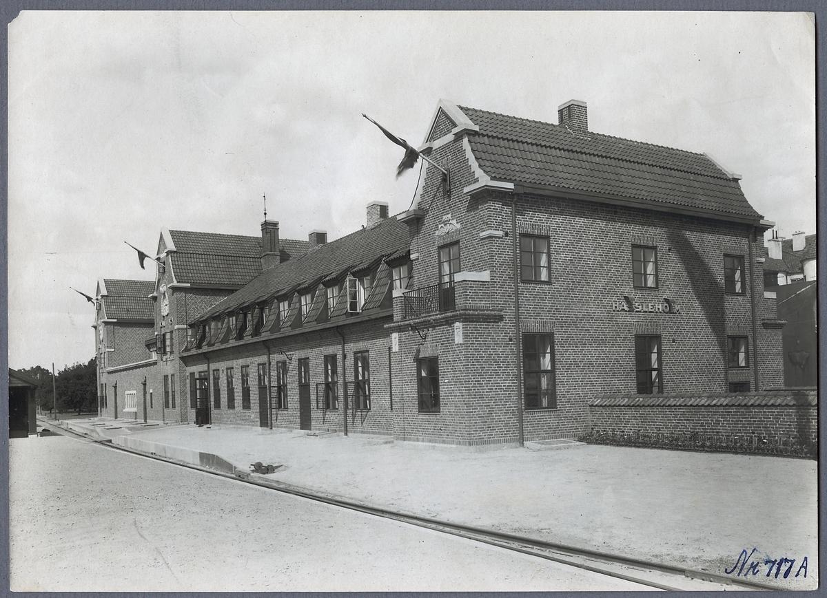 Stationshus vy från hamn