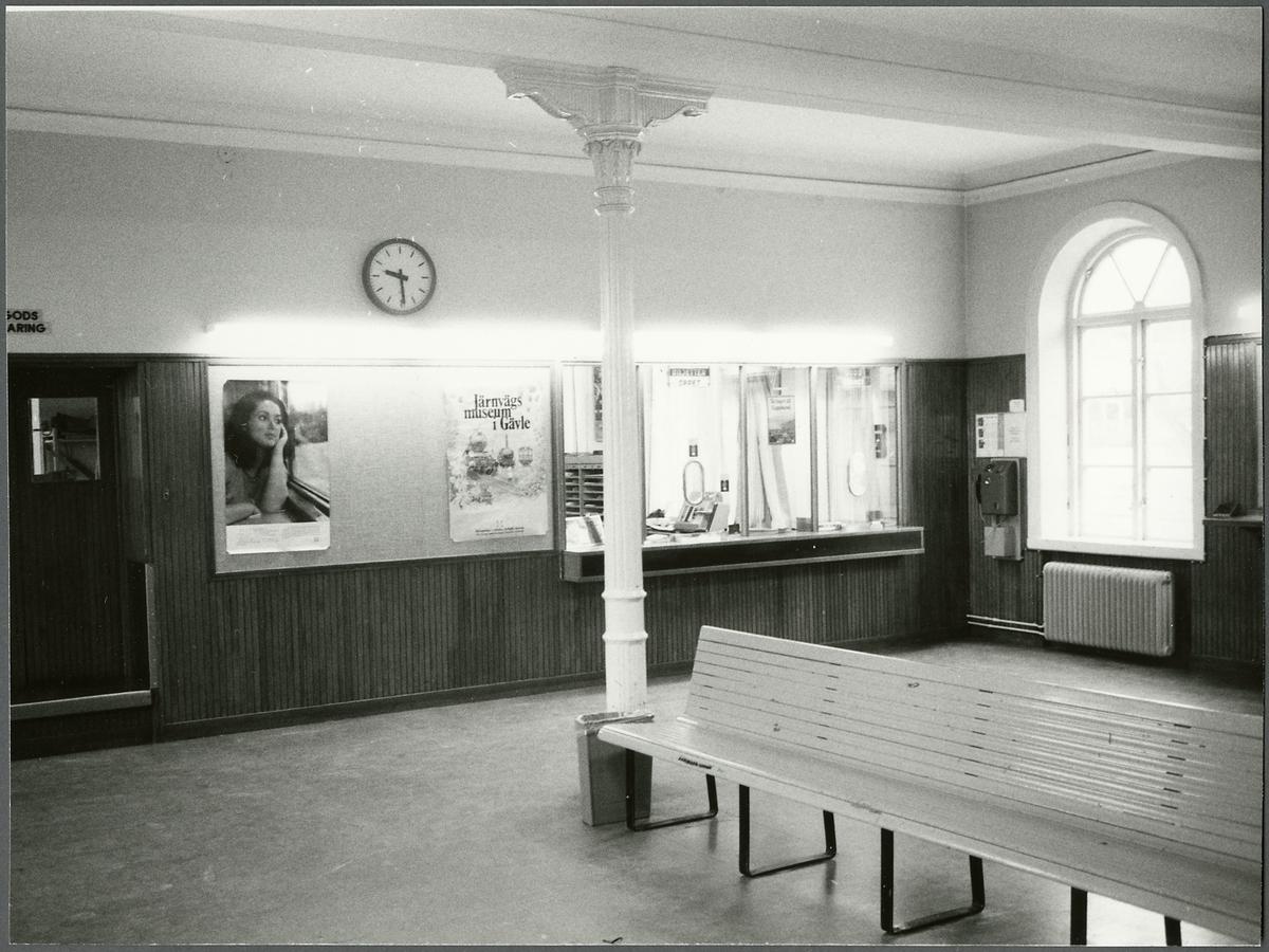 Väntsalen Storviks stationshus.