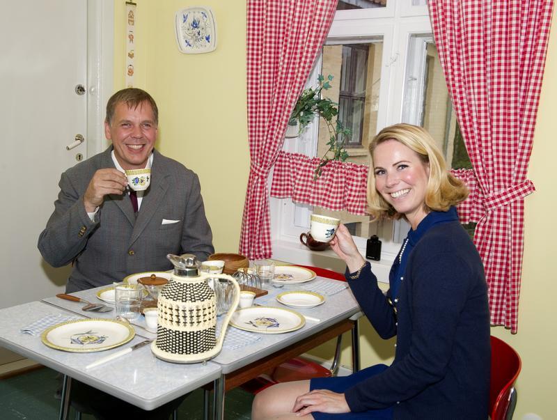«Arne og Solveig Dahl» ved frokostbordet på kjøkkenet. (Foto/Photo)