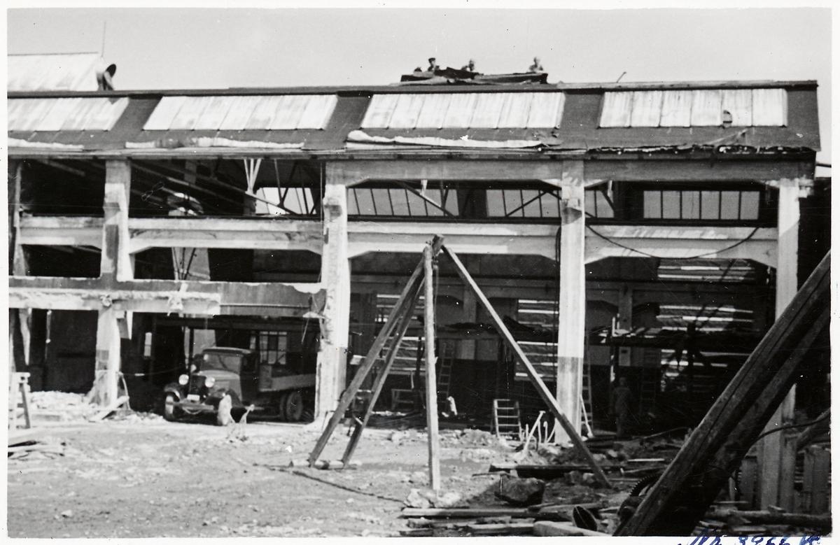 Ombyggnation av lokverkstaden vid Örebro Centralverkstäder.