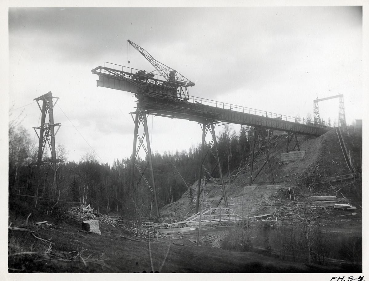 Brobygge över Röån I utmed linjen Forsmo-Hoting.