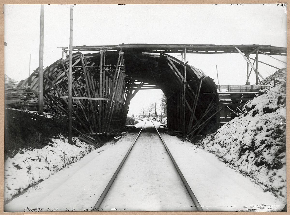 Vägbro bygges i Pålsjö.