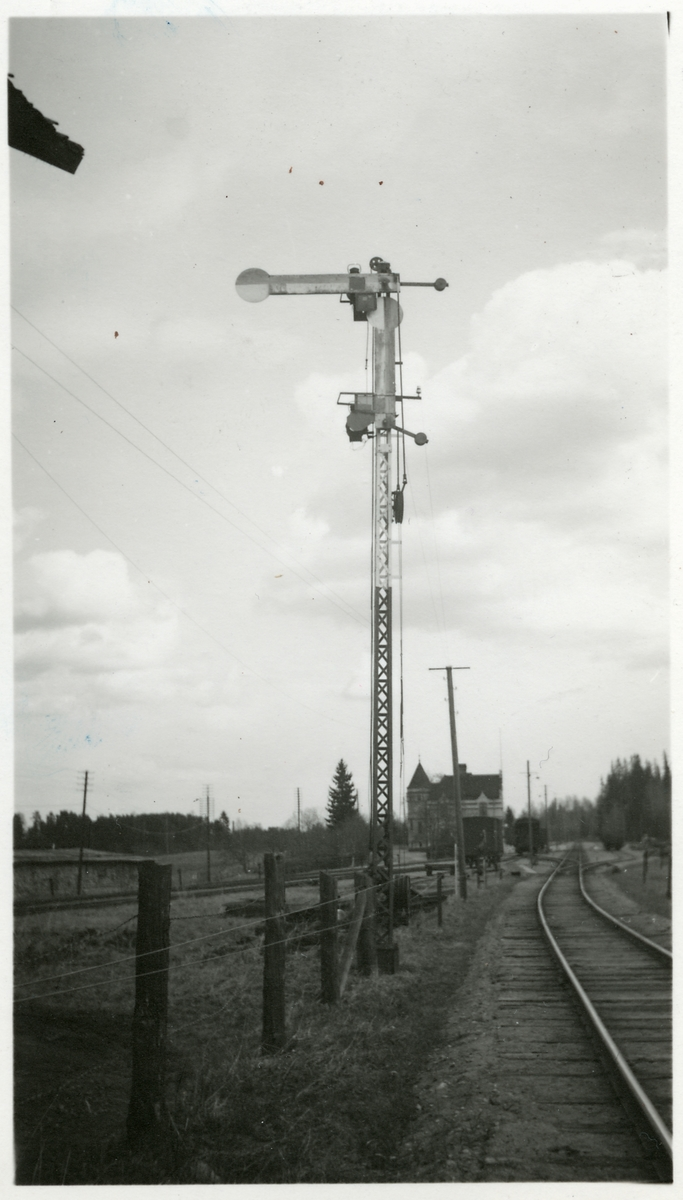 Semafor intill Uttersbrergs station