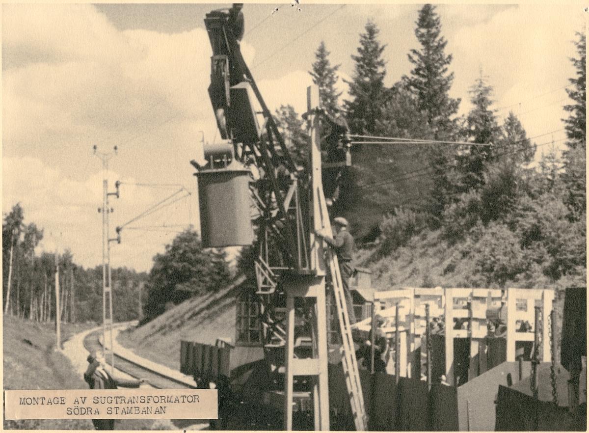 Montering av sugtransformator.