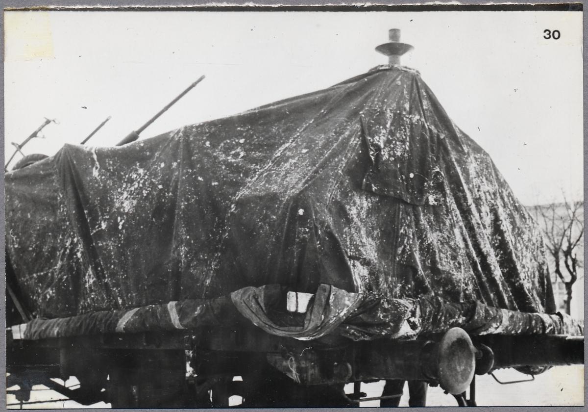 Transport av krigsmateriel.