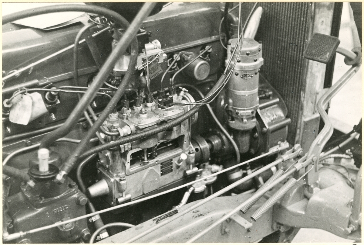 Detaljbild av motor.