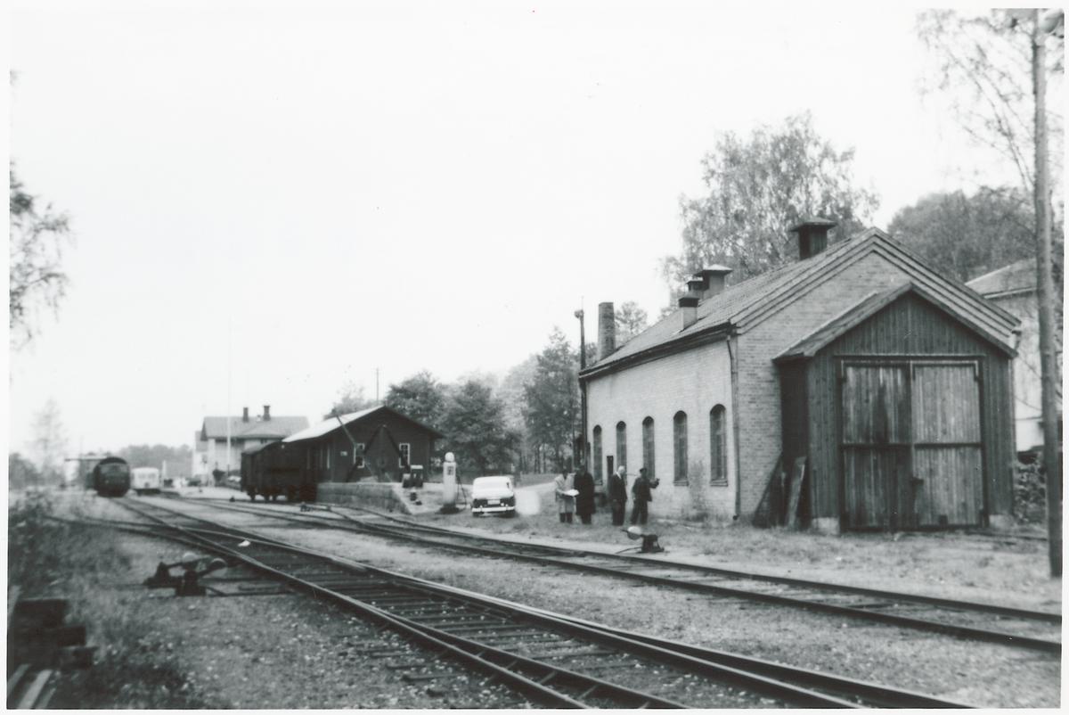Bangården vid Söderfors station.