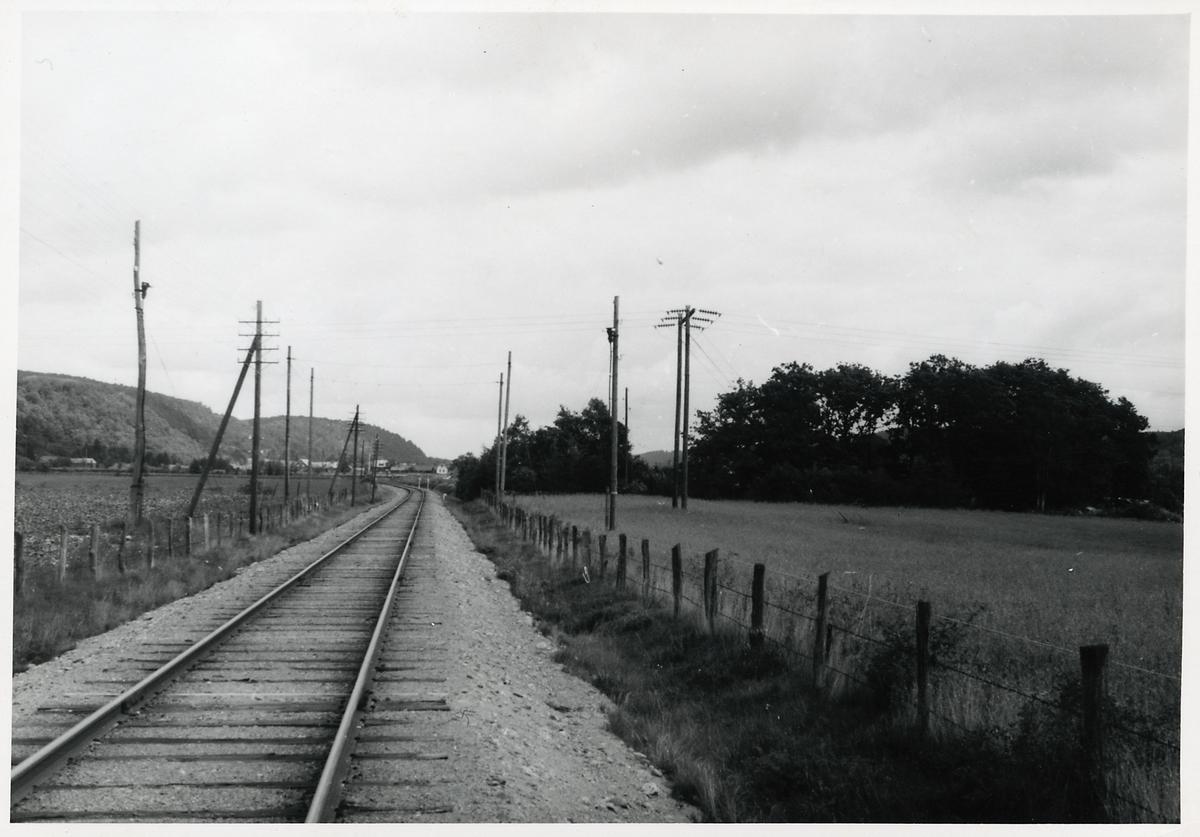 Linjen mellan Veddige och Horred.