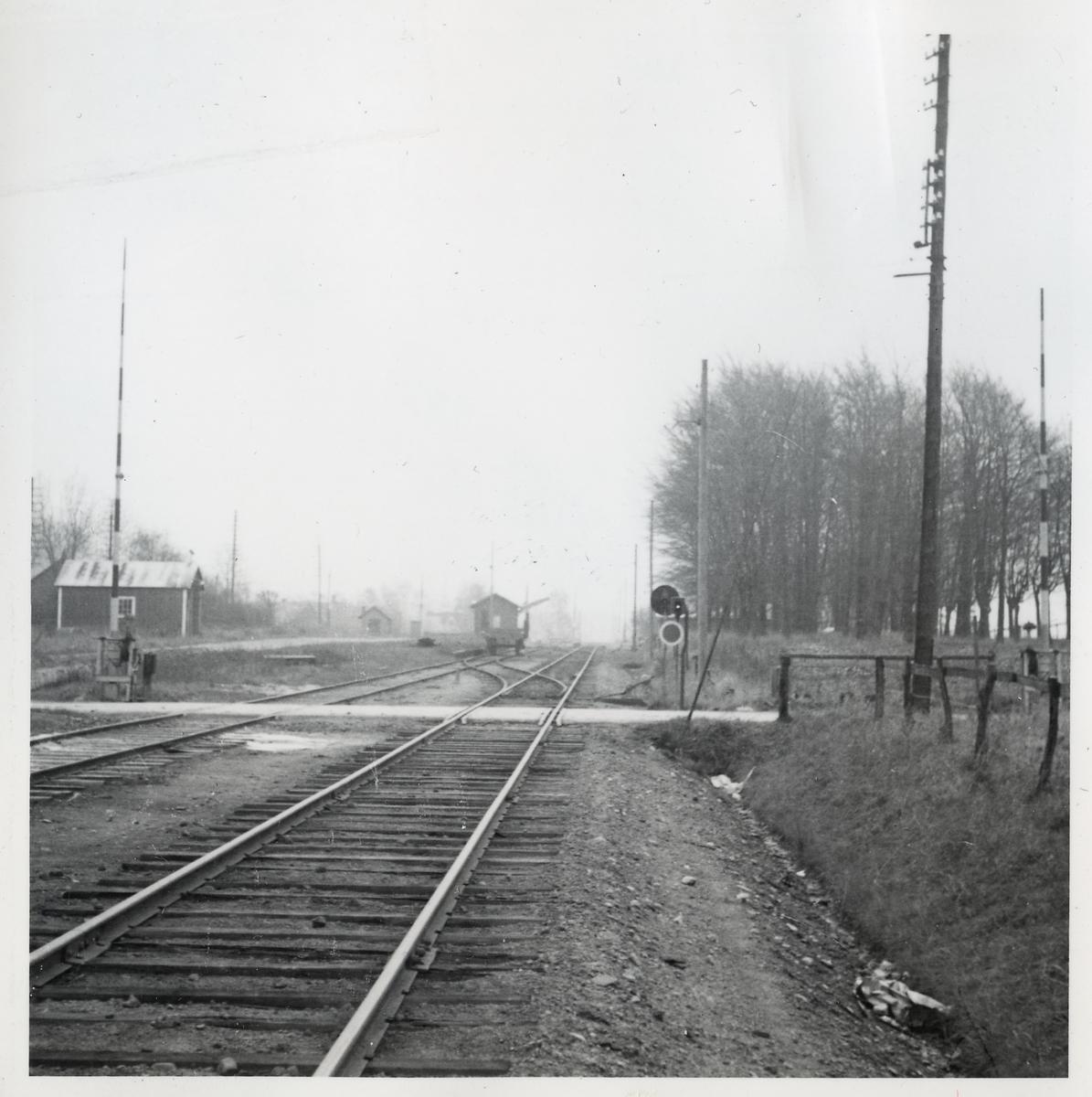 Järnvägsövergång vid Kungshult, på sträckan mellan Eslöv och Långebro.