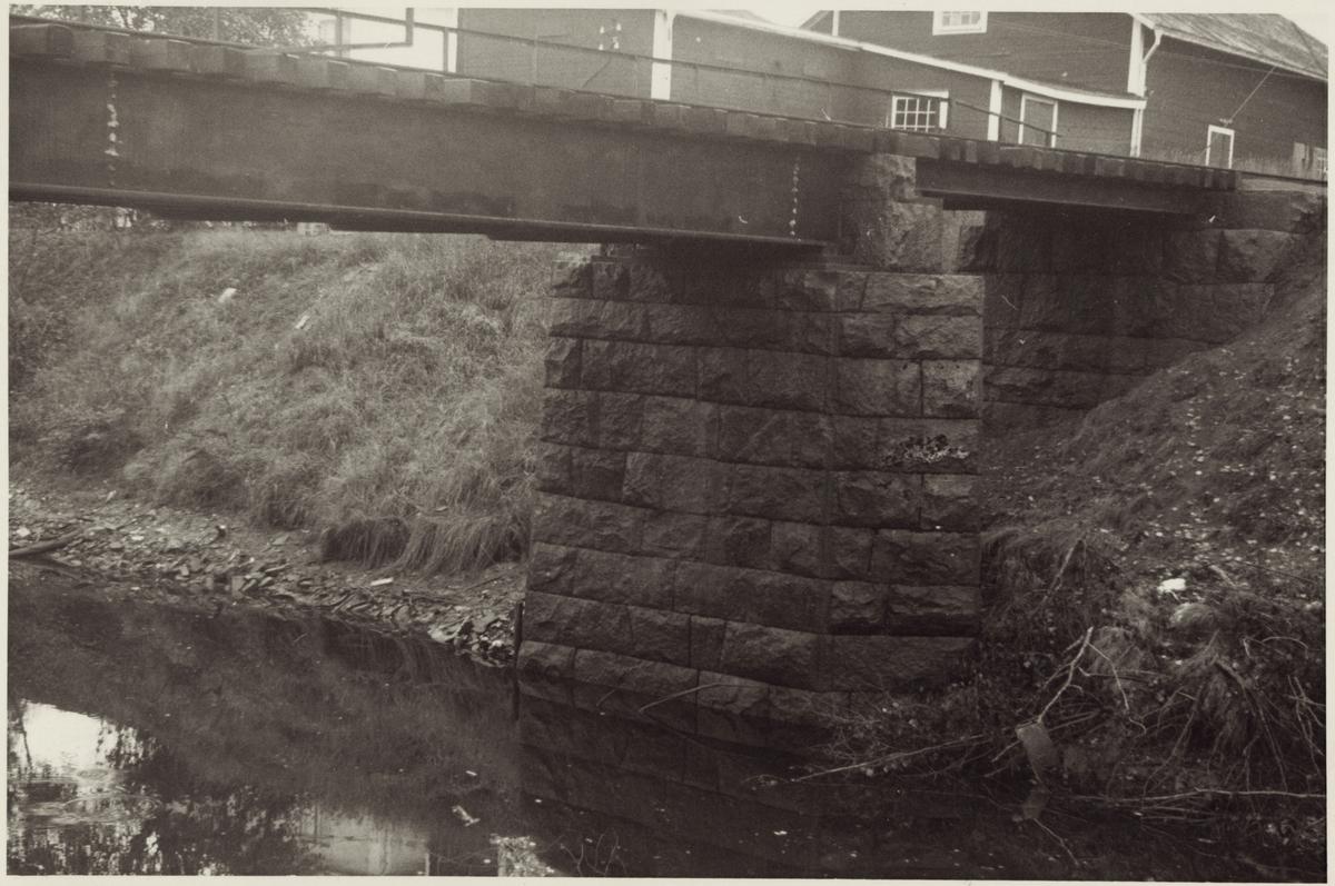 Brofundament på järnvägsbro.