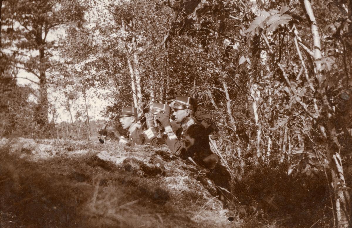 Göta livgarde, officerare under övning.