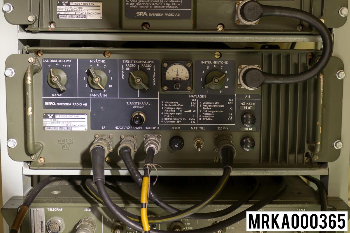 Radiolänk 345 B-del Ursprungsbenämning: B-del Ursprungsbeteckning: SRA-R5-159420