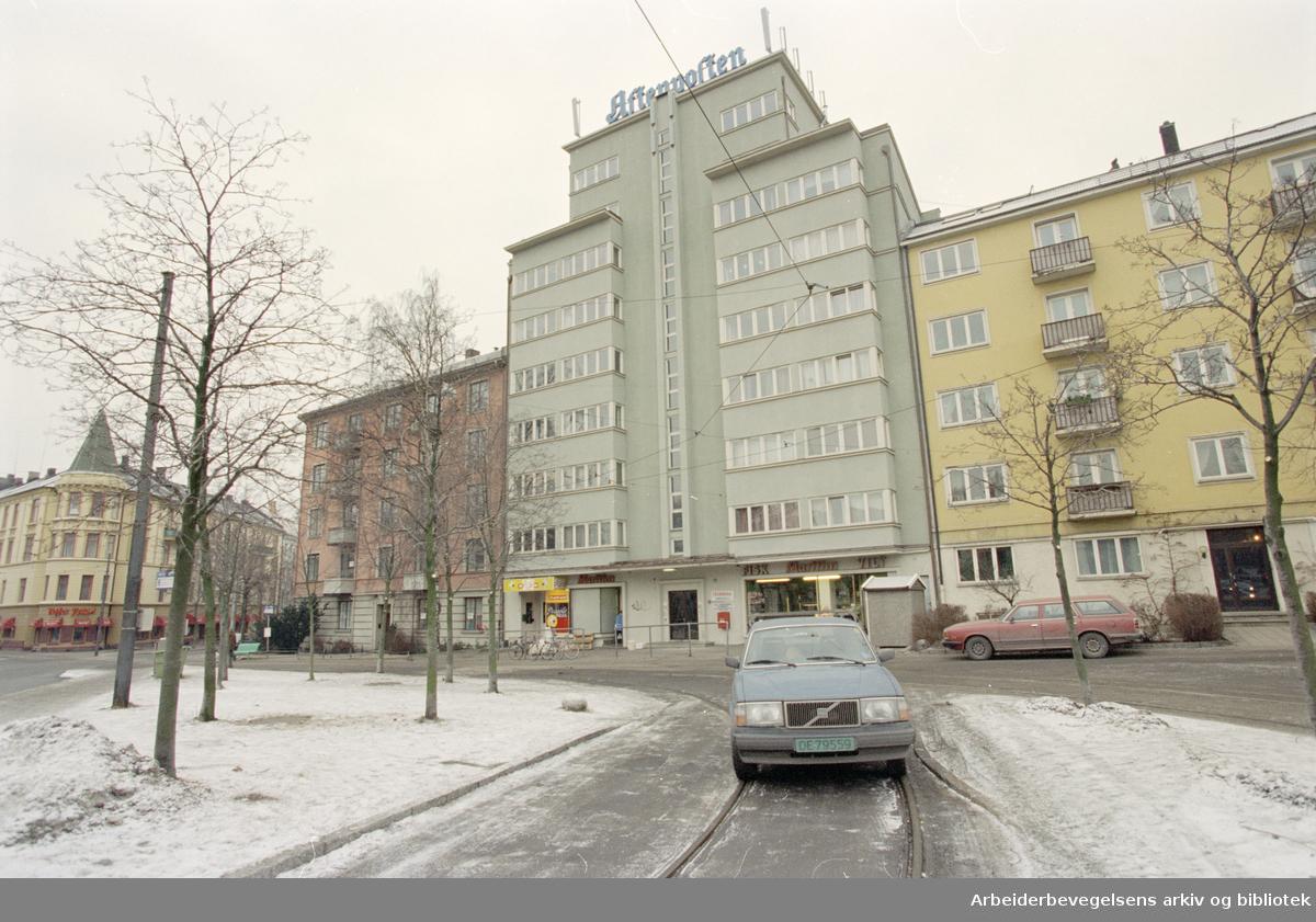 Frogner plass. 2. februar 1996