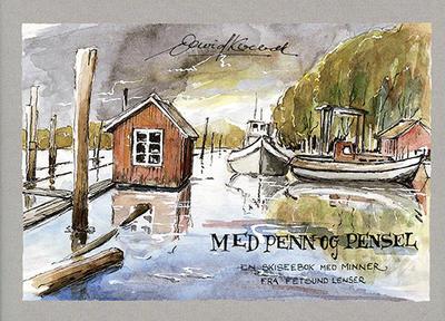 """Forsiden på boken """"Med penn og pensel""""."""