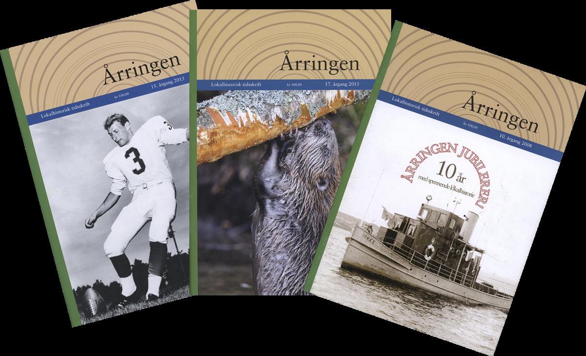 """Collage av forsider fra tidsskriftet """"Årringen"""". (Foto/Photo)"""