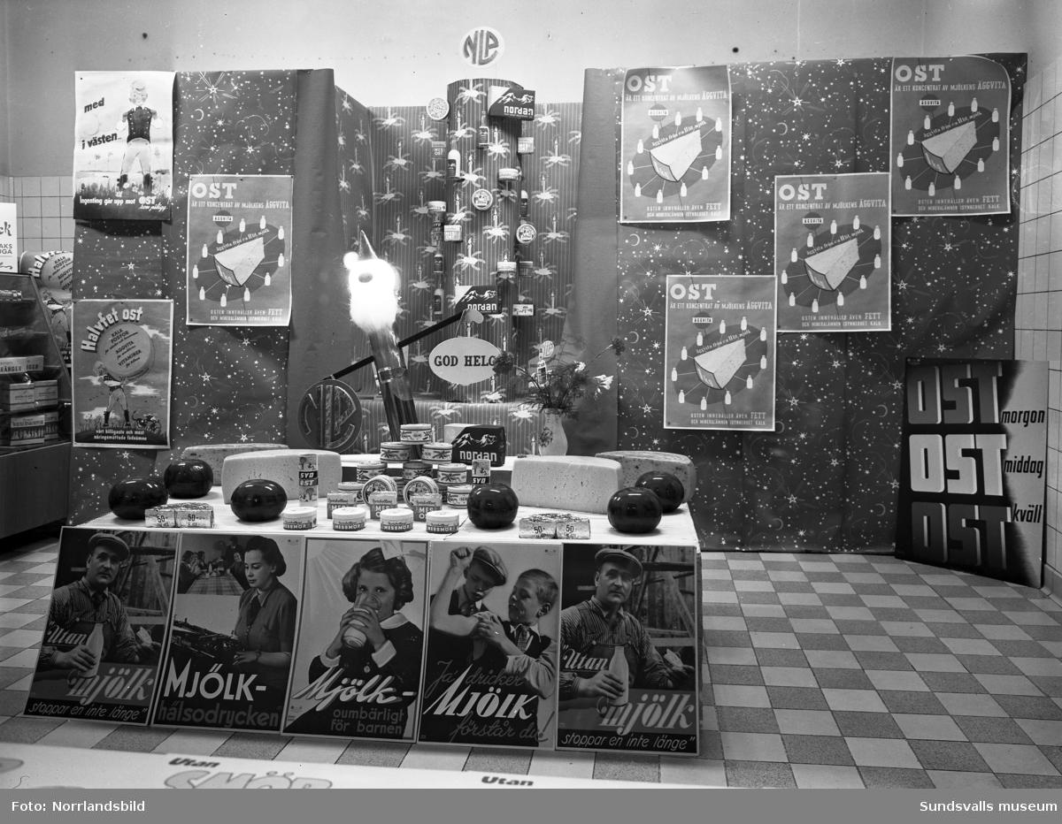 Julskyltning på SMC, Mjölkcentralen vid Rådhusgatan.