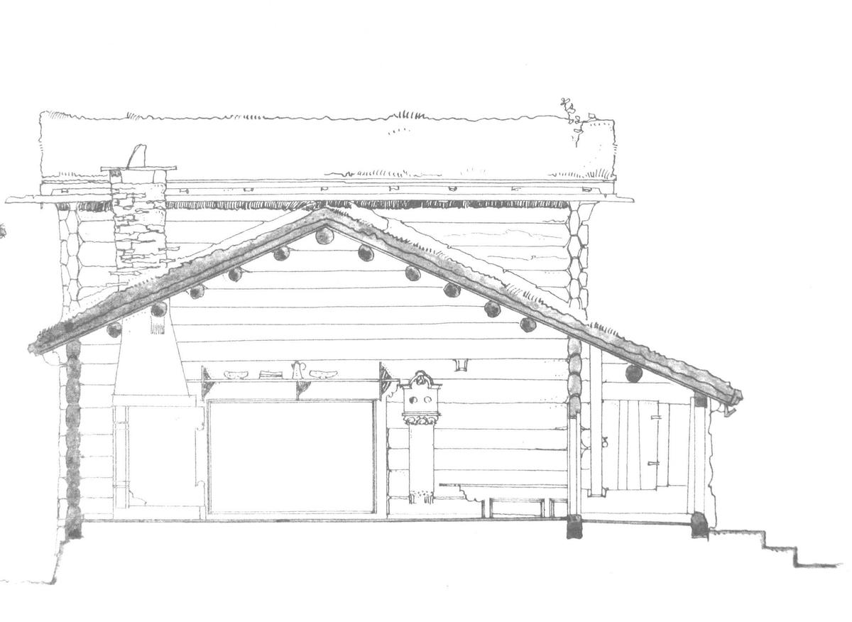 Ramloftstue med akershusisk stueplan.