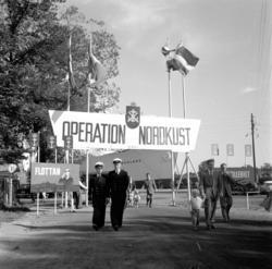 Folkfest i hamnen då flottans höstövning Operation Nordkust