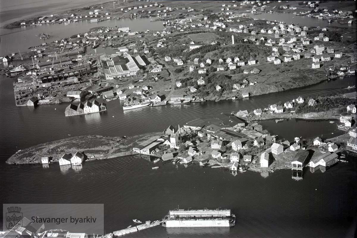 Stavanger midtre. Engøy og Buøy. Mot N.V...Øgreid & Sønner A/S