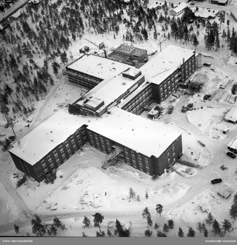 Flygfoton över vårdhemmet Lindgården i Haga, Baldershov.