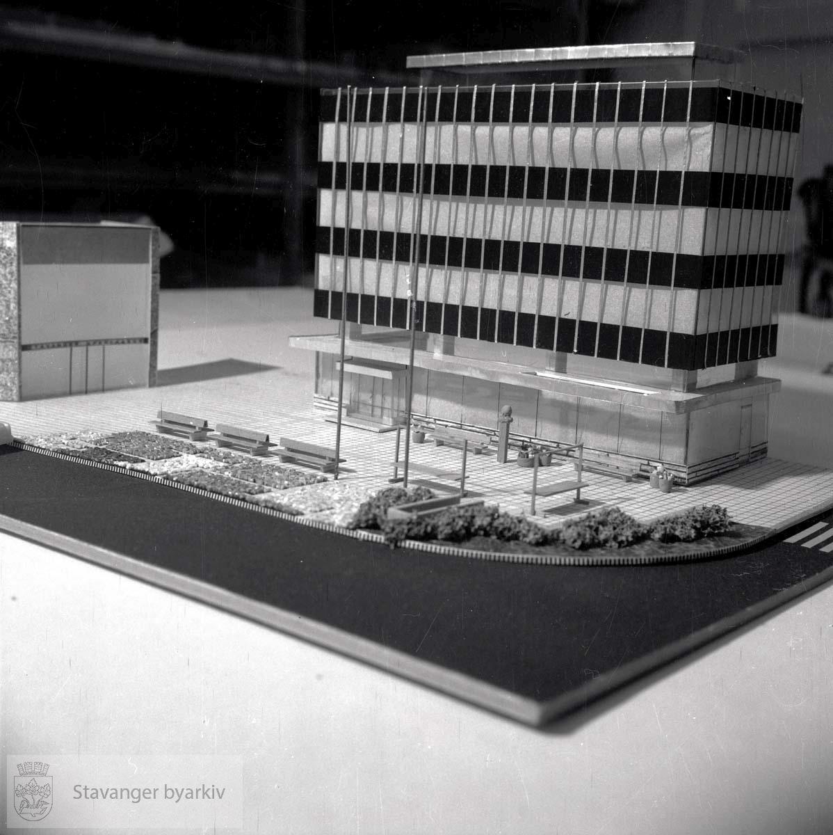 Modell av Hetlandsbanken og Domkirkeplassen