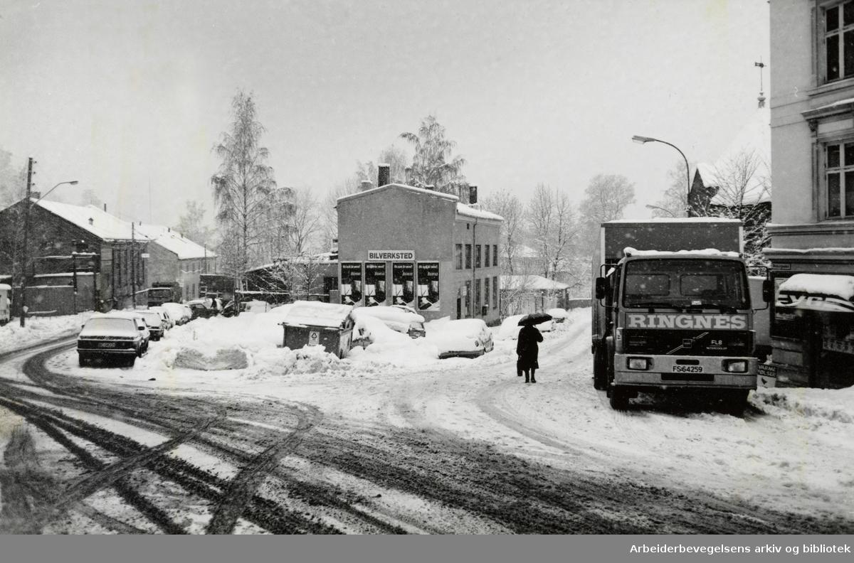 Gamlebyen. Ekebergbakken. Desember 1993