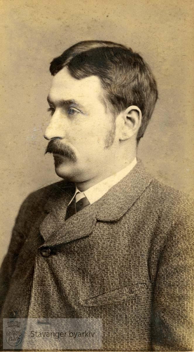 """Visittkort av C.L. Jacobsen:..""""Christian Wiksøe: Far"""""""