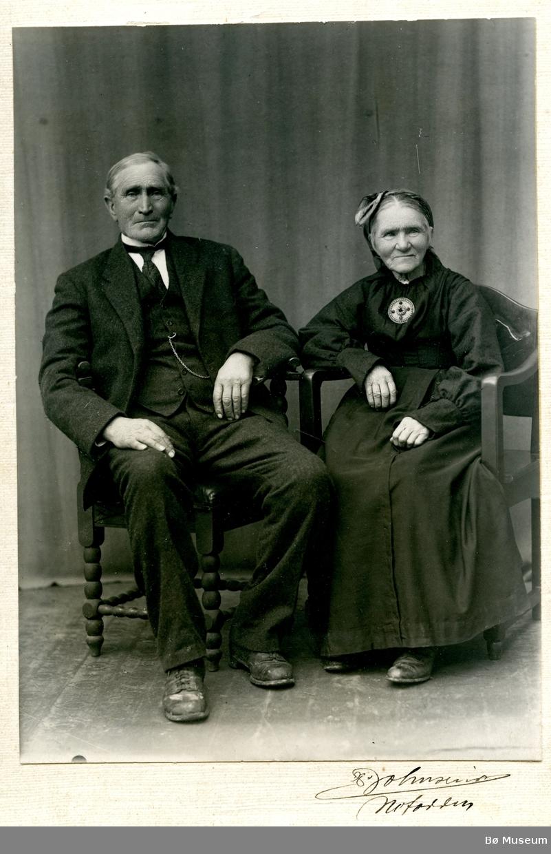 Parbilete av Ole Torgrimsen Smedsrud og Mari Hansdotter Torsteit (g. Smedsrud)