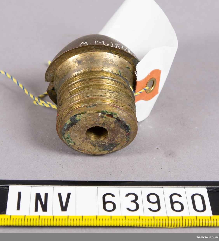 Grupp F II. 1875-79 års skjutförsök. Försök på Tånga hed år 1876. Perkussionsrör av österrikiskt system 1875-79. Kapten Åquists förslag.