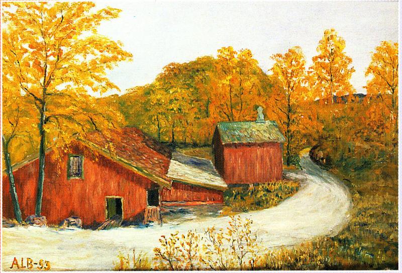 Høvleriet. Maleri av Albert Seheim, 1953. (Foto/Photo)