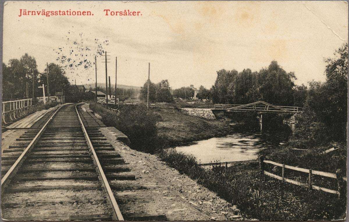 Järnvägsbro över Hoån i Torsåker.