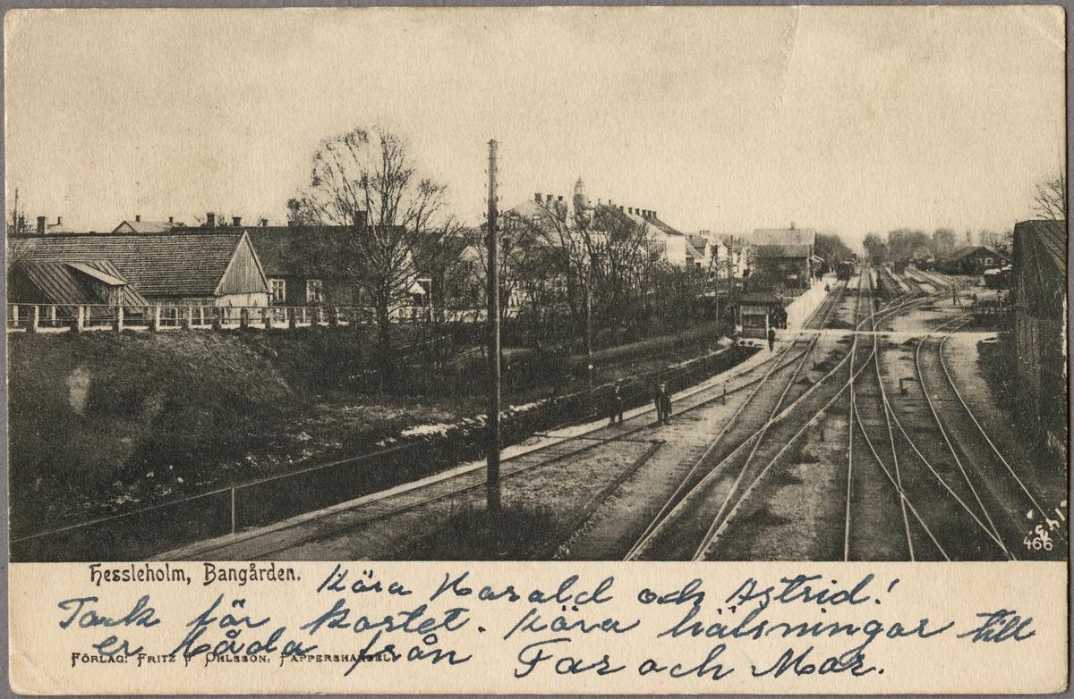 Hässleholm stationsområde.