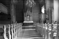 Sju interiørbilder fra Nordlien kirke i Østre Totenjuli/augu