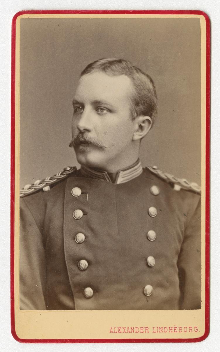 Porträtt av Fredrik Forssman, löjtnant vid Skaraborgs regemente I 9.