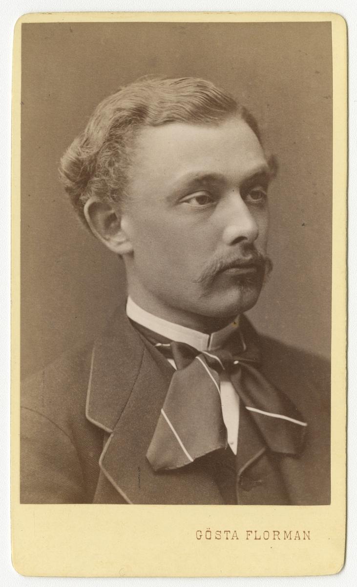 Porträtt av Lars Oscar Stigell, officer vid Kronobergs regemente I 11.  Se även bild AMA.0002187.