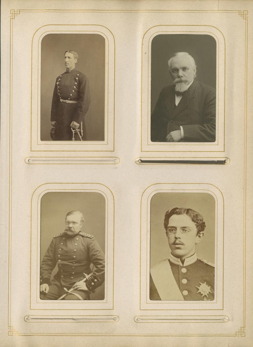 Porträtt av Herman Olof Waldenström, regementsläkare vid Värmlands regemente I 22.  Se även bild AMA.0002100.